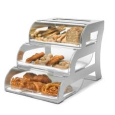 Rosseto® BK010 3-Tier Bakery Display Case with Stainless Frame