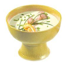 Bon Chef 150049059 HARVEST GOLD 2 Qt. Pedestal Soup / Salad Bowl