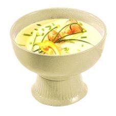 Bon Chef 150049059 TAN 2 Qt. Pedestal Soup / Salad Bowl