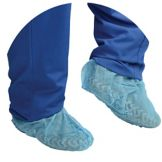 Tradex PSC3L Blue Large Polypropylene Shoe Cover - 3 / CS