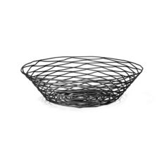 Tablecraft BK17512 Black Round Artisan Collection Wire Basket