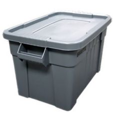 Rubbermaid BRUTE® Gray Rectangular 20 Gal Tote w/ Lid