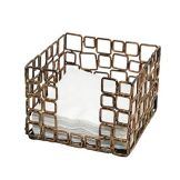 FOH BHO039GOI21 Wireware™ Coppered Link Napkin Holder - 4 / CS