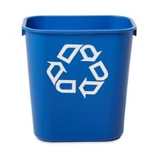 Rubbermaid Small Blue 14 Qt Recycling Container w/ Universal Symbol