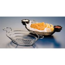 American Metalcraft BSKC118 Oval Wire Basket with Ramekin Holder
