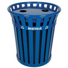 Witt WCR36-FTR Wydman 36 Gallon Blue Recycling Receptacle