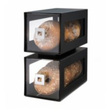 Rosseto® BD101 Black Matte Bakery Display with Acrylic Drawers
