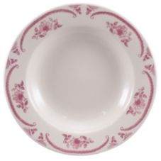 Homer Laughlin 3802 American Rose 20 Oz. 11 in. Pasta Bowl - Dozen