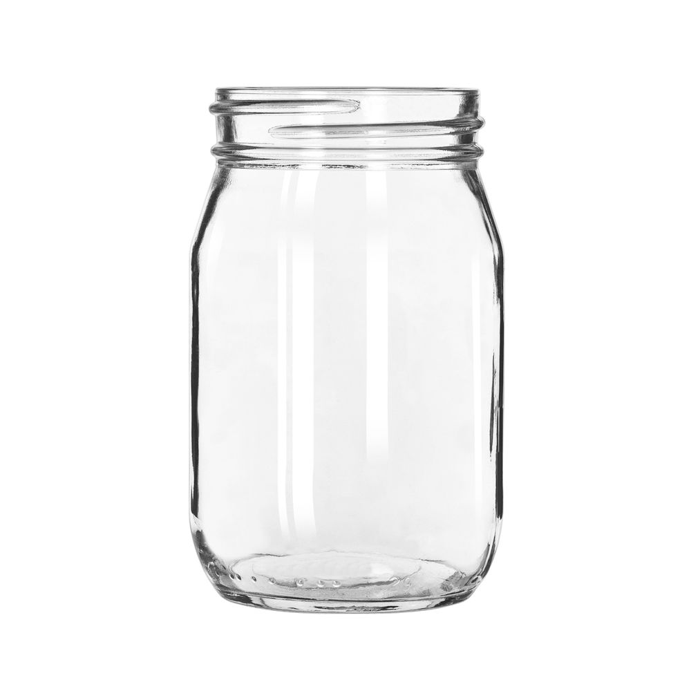 libbey 92103 16 oz glass drinking storage jar 12 cs ebay. Black Bedroom Furniture Sets. Home Design Ideas