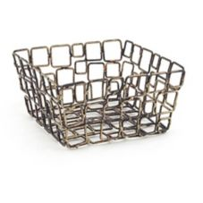 FOH® BHO044GOI22 Wireware™ Square Coppered Link Basket