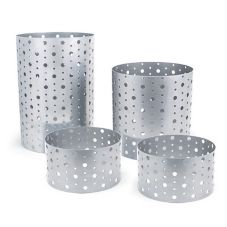 Front Of The House® BRI004BCI20 Stainless Steel Dots Risers - Set