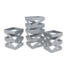 Front Of The House® BRI006BCI28 Stainless Zig Zag Risers - Set