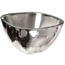 Eastern Tabletop 9329 Hammered Stainless 4 Qt. Insulated Salad Bowl