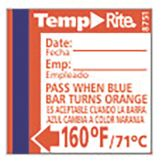Taylor® 8751 TempRite 160°F Dishwasher Test Labels - 24 / PK