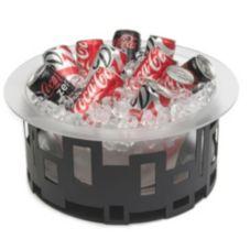 "Rosseto® SM180 Black Matte 10"" Steel Ice Tub"
