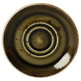 "Steelite 11320158 Craft Brown 5-3/4"" Double Well Saucer - 36 / CS"