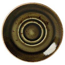 """Steelite 11320158 Craft Brown 5-3/4"""" Double Well Saucer - 36 / CS"""