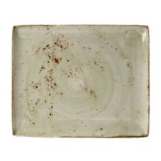 "Steelite 11310551 Craft Green 13.5"" x 10.6"" Platter - 6 / CS"