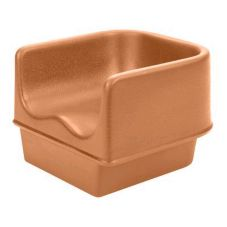Cambro 100BC1157 Coffee Beige Single Height Booster Seat without Strap