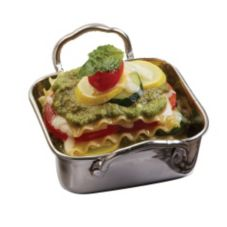 American Metalcraft MRPS45 S/S 14 Oz. Square Mini Roasting Pan