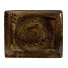 "Steelite 11320551 Craft Brown 13-1/2"" x 10-5/8"" Platter - 6 / CS"