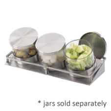 Cal-Mil C18505 Stainless Steel Large Mixology Jar Display