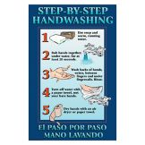"DayMark 112092 11"" x 17"" Step-By-Step Hand Washing Poster"