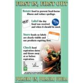 "DayMark® 112100 11"" x 17"" First In First Out Poster"
