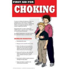 Day Mark Safety Systems 112464 First Aid for Choking Poster