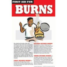 Day Mark Safety Systems 112465 First Aid for Burns Poster
