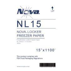 """Nova NL15 White 15"""" x 1100"""" Freezer Paper - 1 / RL"""