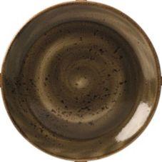 "Steelite 11320567 Performance Craft Brown 8"" Coupe Plate - 24 / CS"
