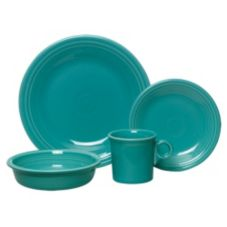 Homer Laughlin 1413-40081 Fiesta Turquoise 4 Piece Place Setting