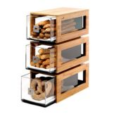 Rosseto® BD104 Natural Bamboo 3-Drawer Bakery Column
