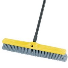 Rubbermaid® FG9B0200GRAY Flagged Poly Bristle 24 In. Floor Sweep