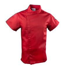 Chef Revival J020TM-M Knife & Steel Tomato Red Medium Chefs Jacket