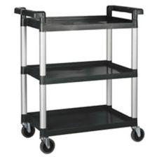 """Winco® UC-35K Black 33.25 x 17 x 37.5"""" 3-Tier Utility Cart"""