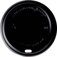 International Paper LHRDSB-16 Black Dome Lid For Hot Cups - 1200 / CS