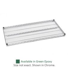 "Olympic Storage J2136K Green 21"" x 36"" Wire Shelf"
