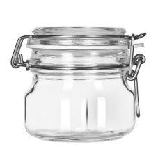 Libbey® 17207223 Glass 6.75 Oz. Garden Jar with Lid - 6 / CS