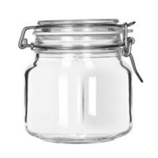 Libbey® 17209925 Glass 25.25 Oz. Garden Jar with Lid - 6 / CS