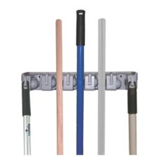 "Update International MBR-16 Plastic 16"" Mop and Broom Holder"