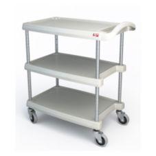 "Metro MY1627-34G MyCart BC Series Black 16 x 27"" 3-Shelf Cart"
