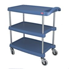 "Metro MY1627-34BU MyCart BC Series Blue 16 x 27"" 3-Shelf Cart"