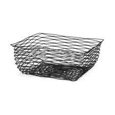 Tablecraft Products BK17313 Artisan Black 13 x 13 x 6 Square Basket