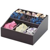 Cal-Mil 1714-96 Midnight Bamboo Coffee Condiment Organizer
