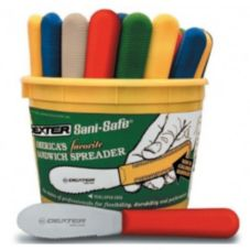 Dexter Russell 18553 Sani-Safe Bucket of Scalloped Spreaders - 48 / PK