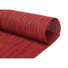 FOH® XPM094RDV83 Metroweave® Urban Red Placemat - 12 / CS