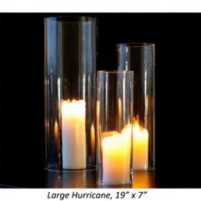 """Turgla 17683 Clear 19"""" x 7"""" Straight Side Hurricane - 2 / CS"""