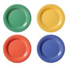 """G.E.T. WP-12-MIX Mardi Gras Assorted Colors 12"""" Plates - 12 / CS"""